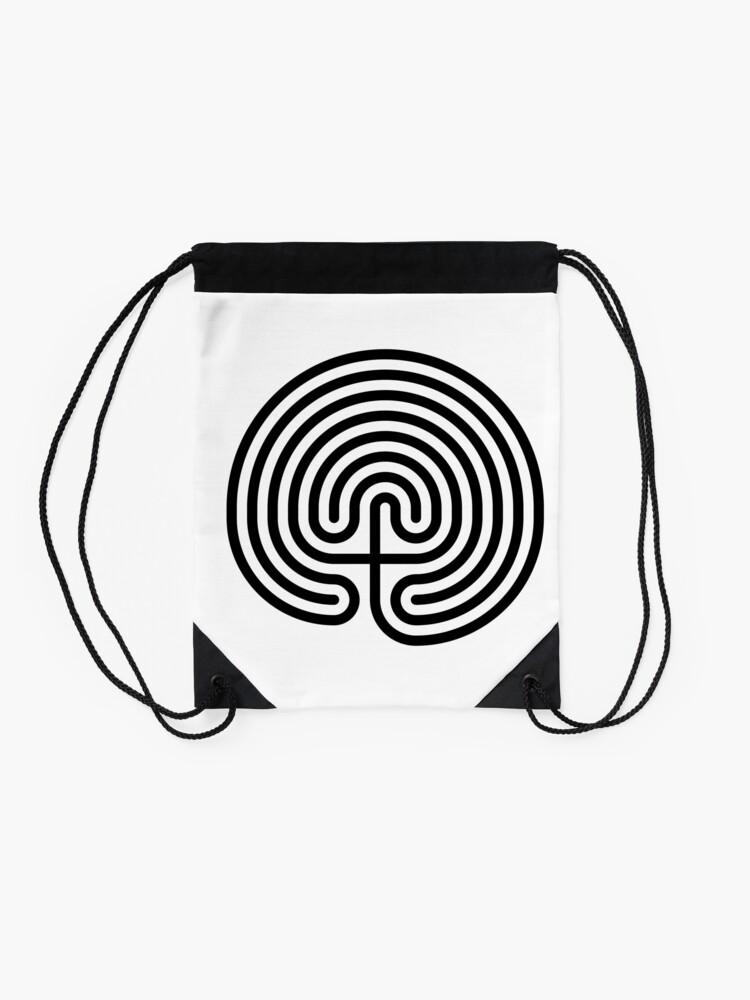 Alternate view of #Cretan, #labyrinth, Cretanlabyrinth Drawstring Bag