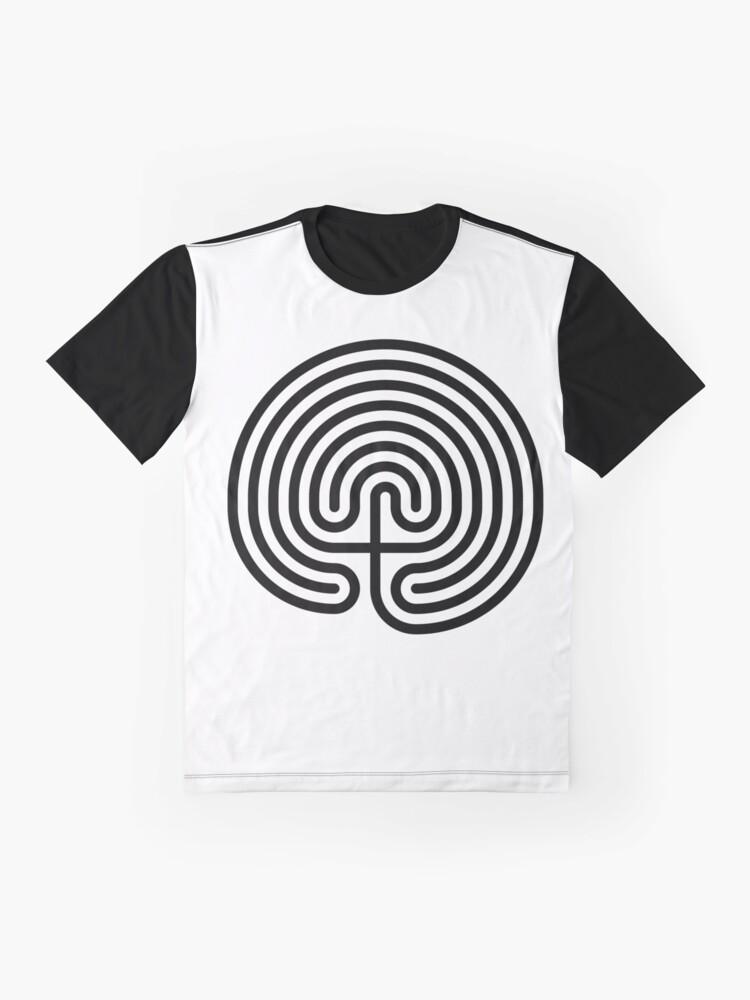 Alternate view of #Cretan, #labyrinth, Cretanlabyrinth Graphic T-Shirt