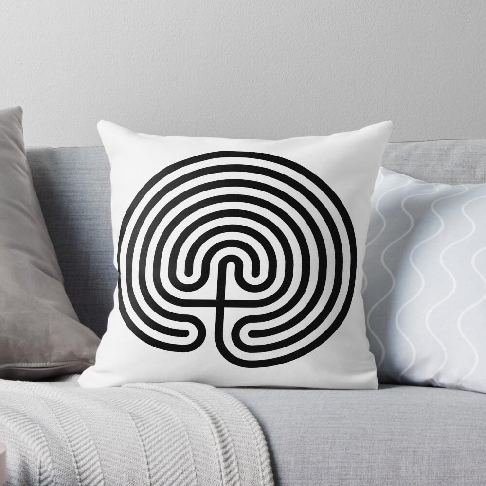 #Cretan, #labyrinth, Cretanlabyrinth Throw Pillow