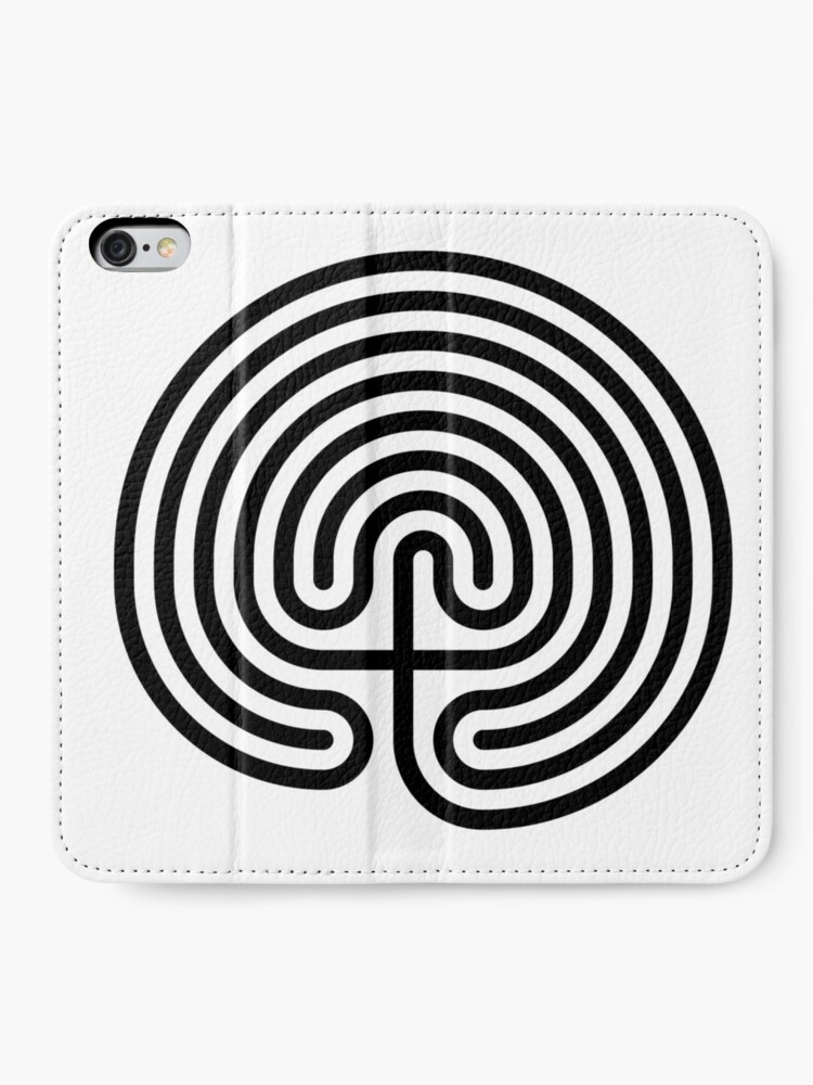 Alternate view of #Cretan, #labyrinth, Cretanlabyrinth iPhone Wallet