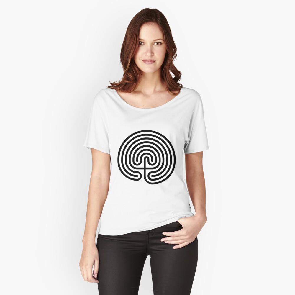 #Cretan, #labyrinth, Cretanlabyrinth Relaxed Fit T-Shirt