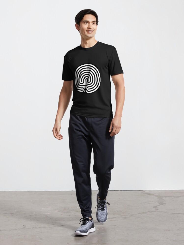 Alternate view of #Cretan, #labyrinth, Cretanlabyrinth Active T-Shirt