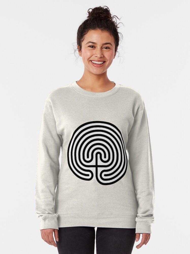 Alternate view of #Cretan, #labyrinth, Cretanlabyrinth Pullover Sweatshirt
