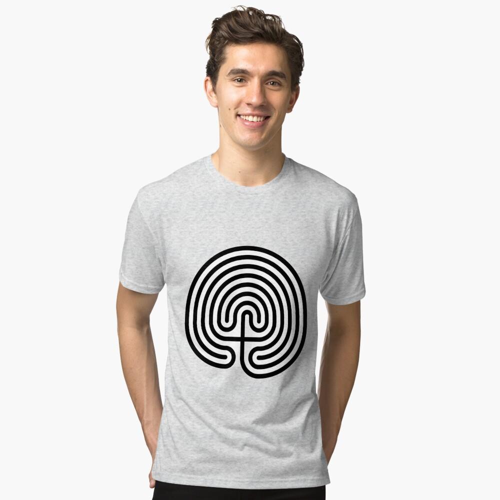 #Cretan, #labyrinth, Cretanlabyrinth Tri-blend T-Shirt
