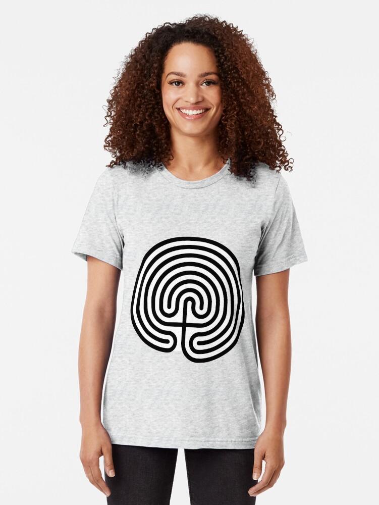 Alternate view of #Cretan, #labyrinth, Cretanlabyrinth Tri-blend T-Shirt