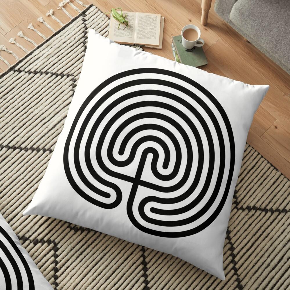 #Cretan, #labyrinth, Cretanlabyrinth Floor Pillow