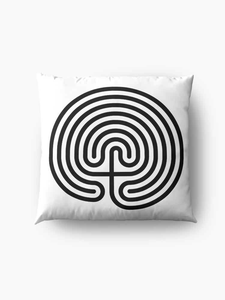 Alternate view of #Cretan, #labyrinth, Cretanlabyrinth Floor Pillow
