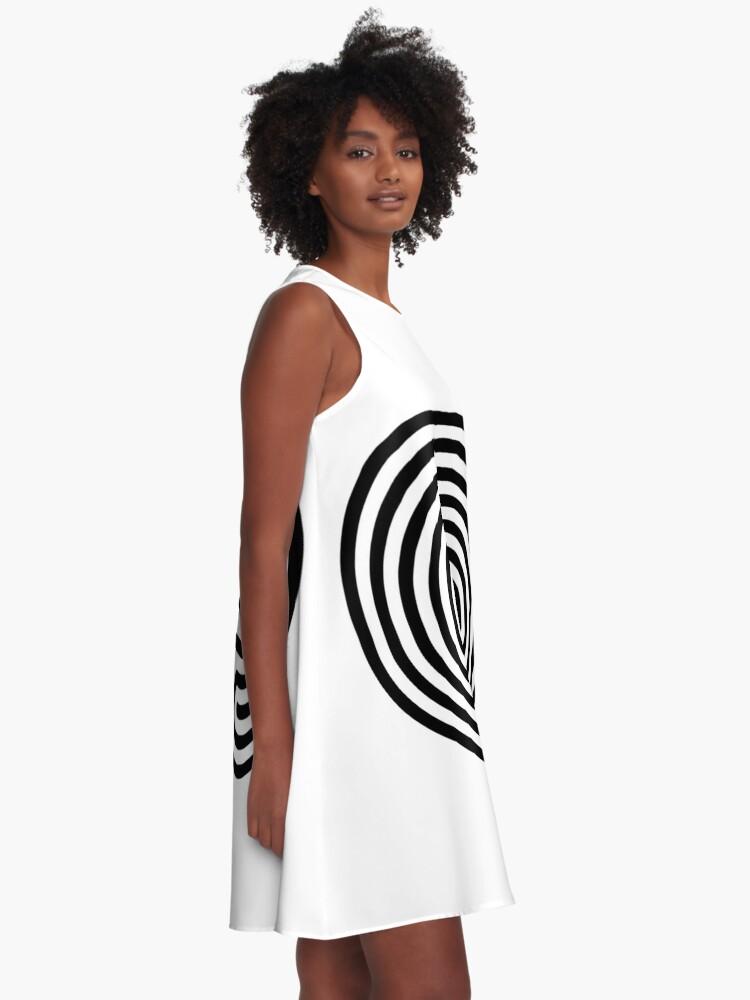 Alternate view of #Cretan, #labyrinth, Cretanlabyrinth A-Line Dress