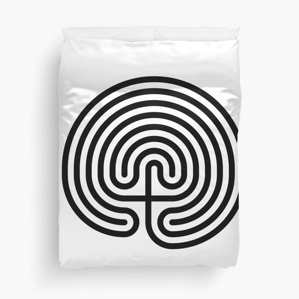 #Cretan, #labyrinth, Cretanlabyrinth Duvet Cover