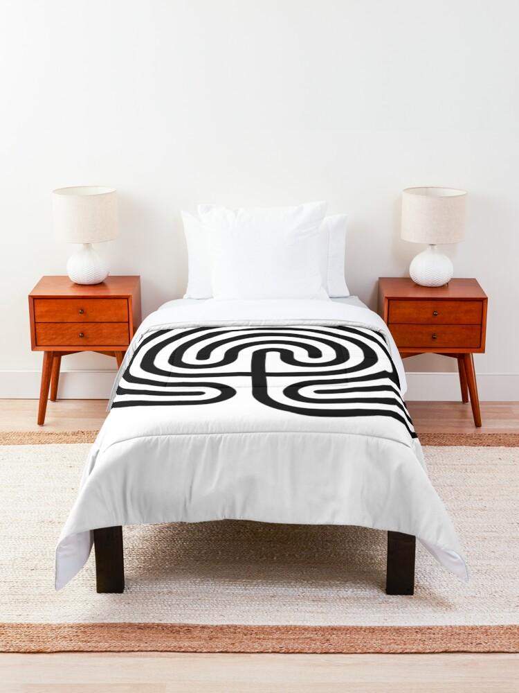 Alternate view of #Cretan, #labyrinth, Cretanlabyrinth Comforter