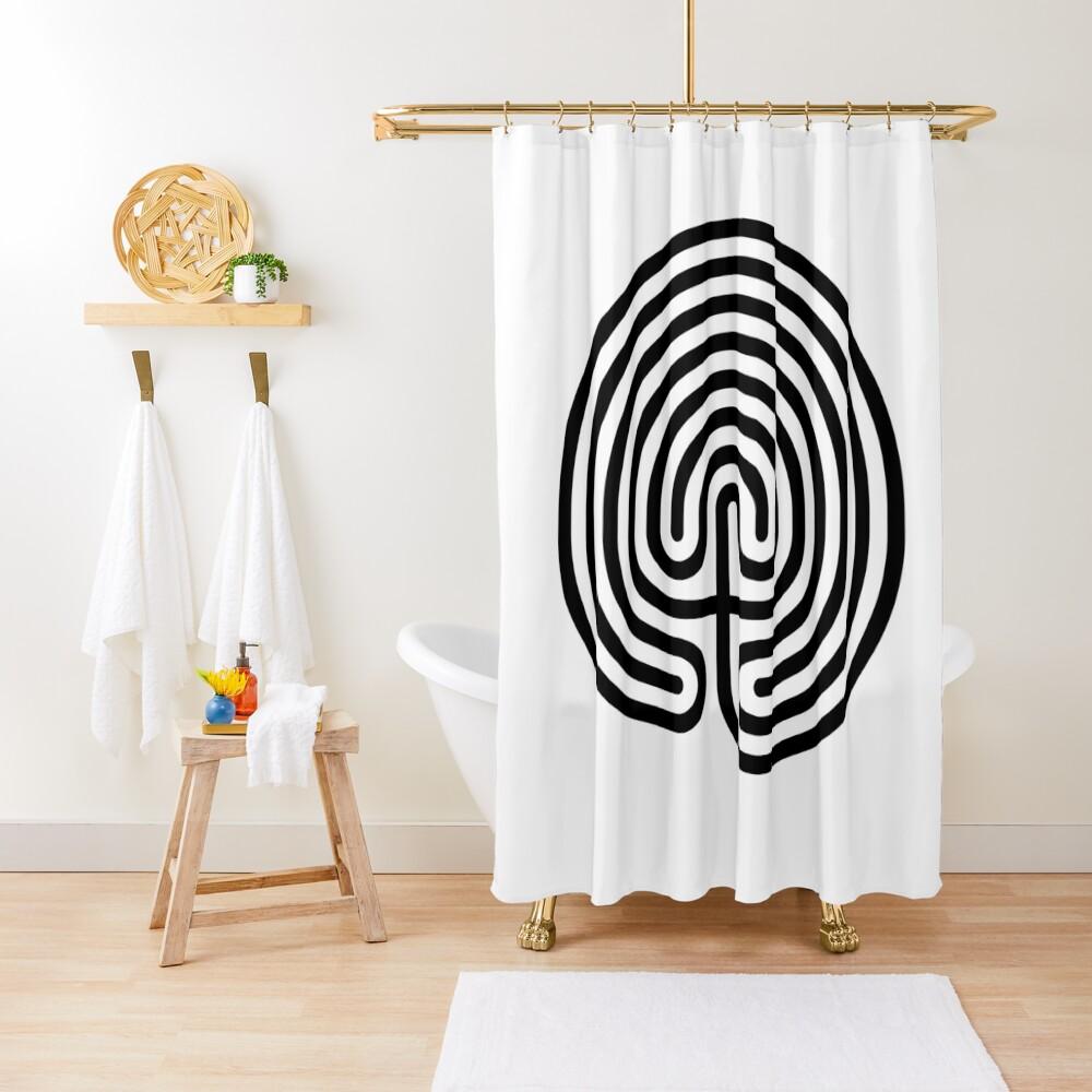 #Cretan, #labyrinth, Cretanlabyrinth Shower Curtain