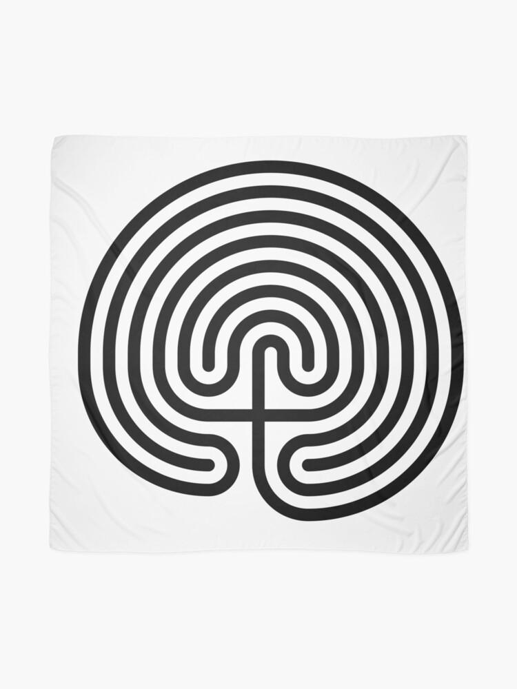 Alternate view of #Cretan, #labyrinth, Cretanlabyrinth Scarf