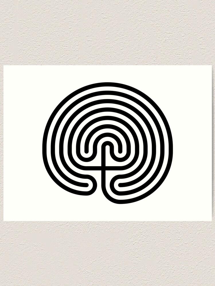 Alternate view of #Cretan, #labyrinth, Cretanlabyrinth Art Print
