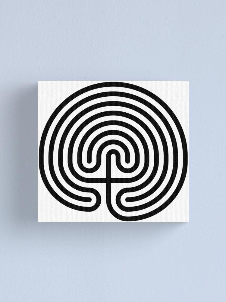 Alternate view of #Cretan, #labyrinth, Cretanlabyrinth Canvas Print