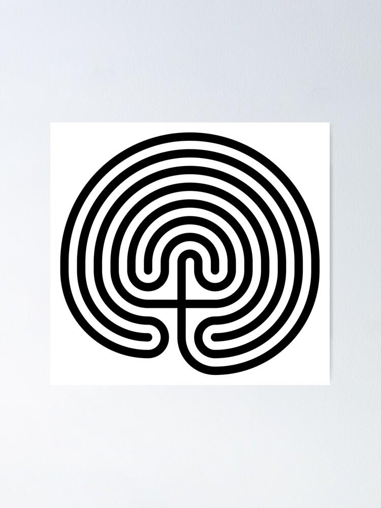 Alternate view of #Cretan, #labyrinth, Cretanlabyrinth Poster
