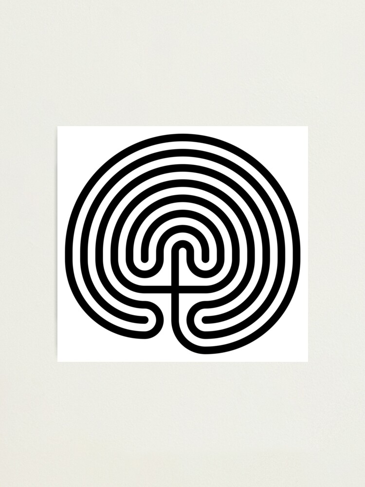 Alternate view of #Cretan, #labyrinth, Cretanlabyrinth Photographic Print