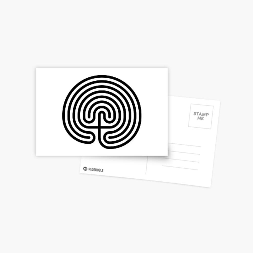 #Cretan, #labyrinth, Cretanlabyrinth Postcard