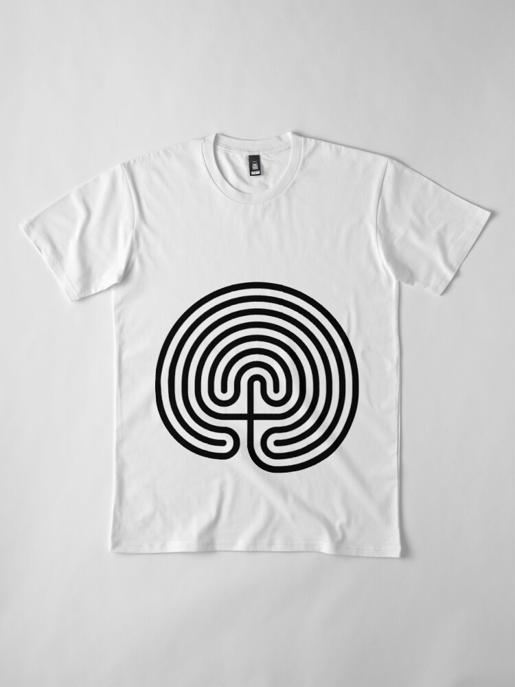 Alternate view of #Cretan, #labyrinth, Cretanlabyrinth Premium T-Shirt