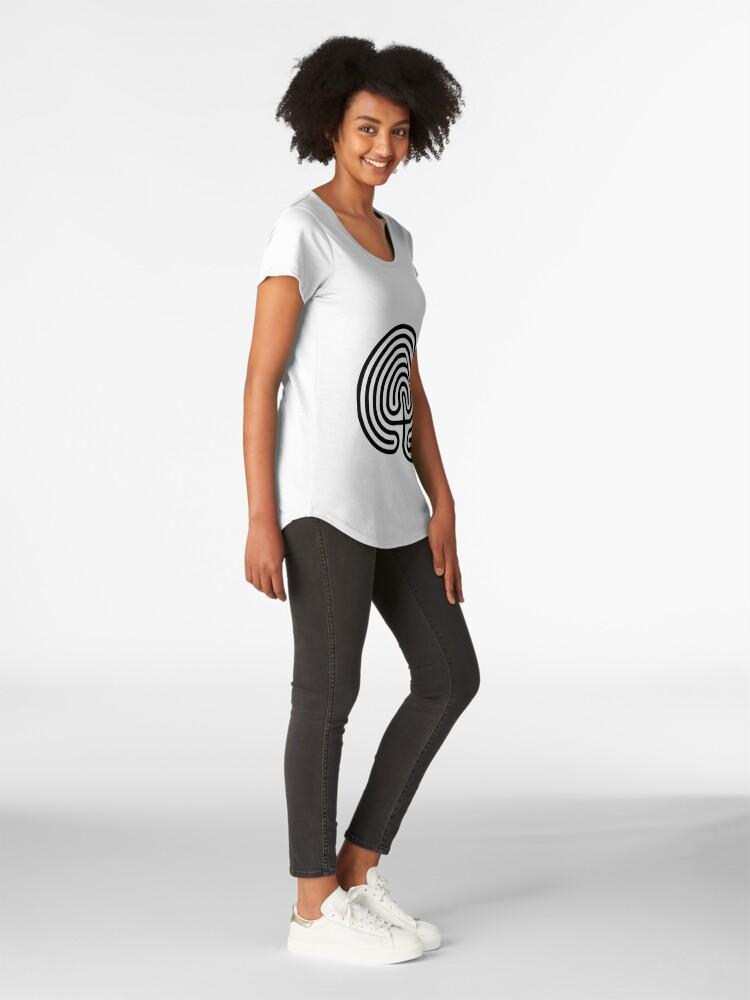 Alternate view of #Cretan, #labyrinth, Cretanlabyrinth Premium Scoop T-Shirt