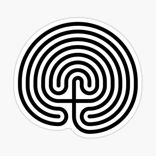 #Cretan, #labyrinth, Cretanlabyrinth Sticker