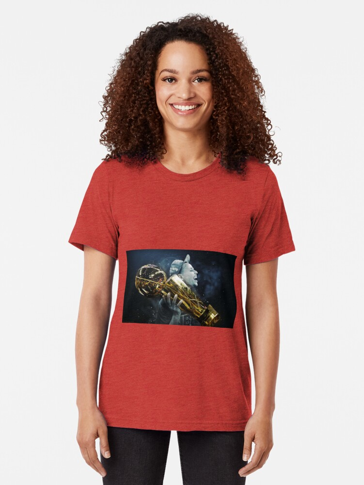 Alternate view of stepen curri basket Tri-blend T-Shirt