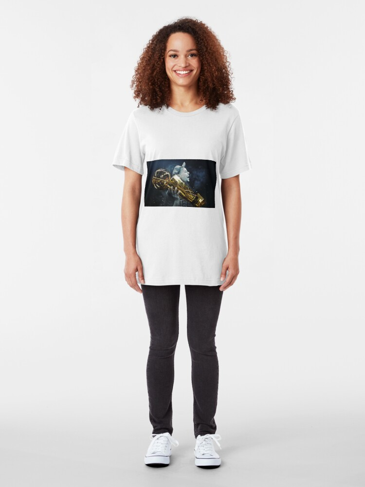 Alternate view of stepen curri basket Slim Fit T-Shirt