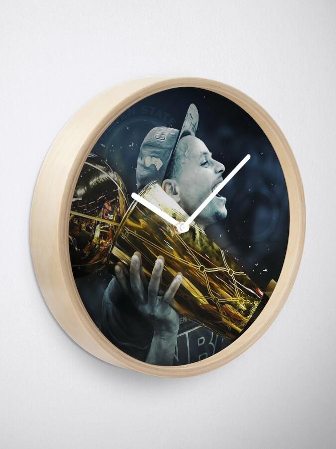 Alternate view of stepen curri basket Clock
