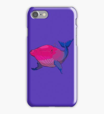Bisexuwhale - no text iPhone Case/Skin