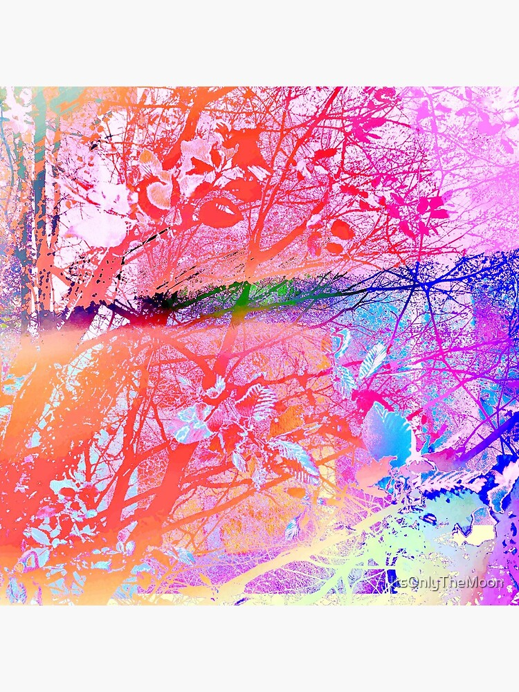 under the trees colorful by ItsOnlyTheMoon
