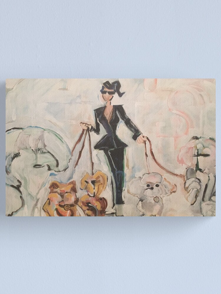 Alternate view of Dog Walker Canvas Print