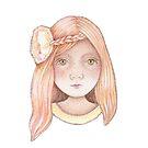 sweet little girl peach by trudette