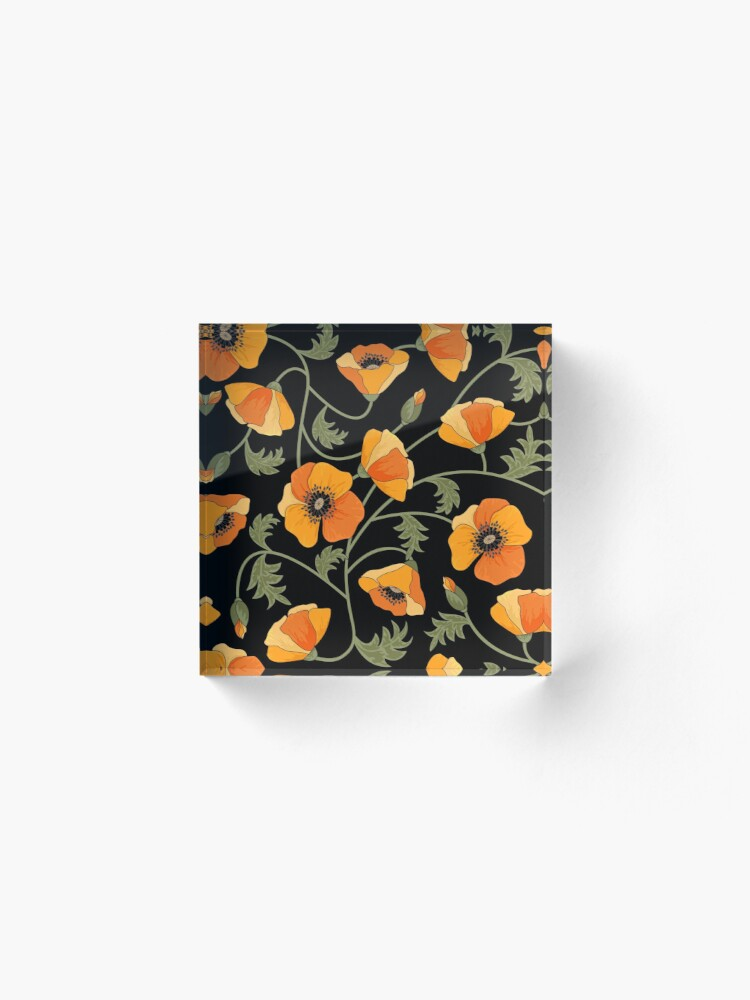 Alternate view of California Poppies Acrylic Block