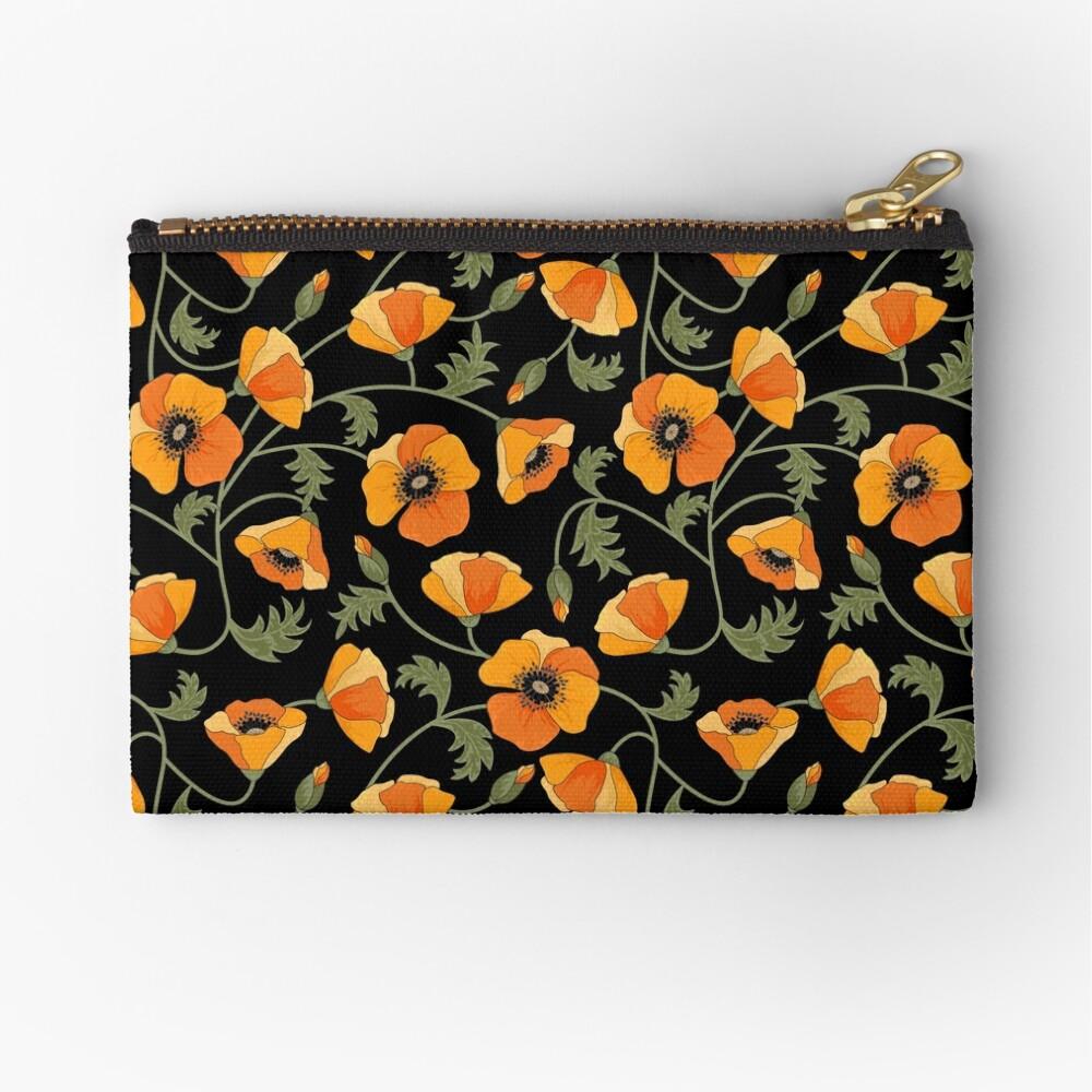 California Poppies Zipper Pouch