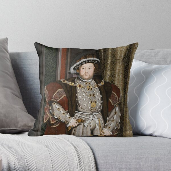 Henry VIII of England Throw Pillow