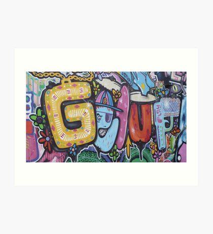Brighton graff 1 Art Print