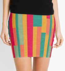 Irregular Stripes Mini Skirt