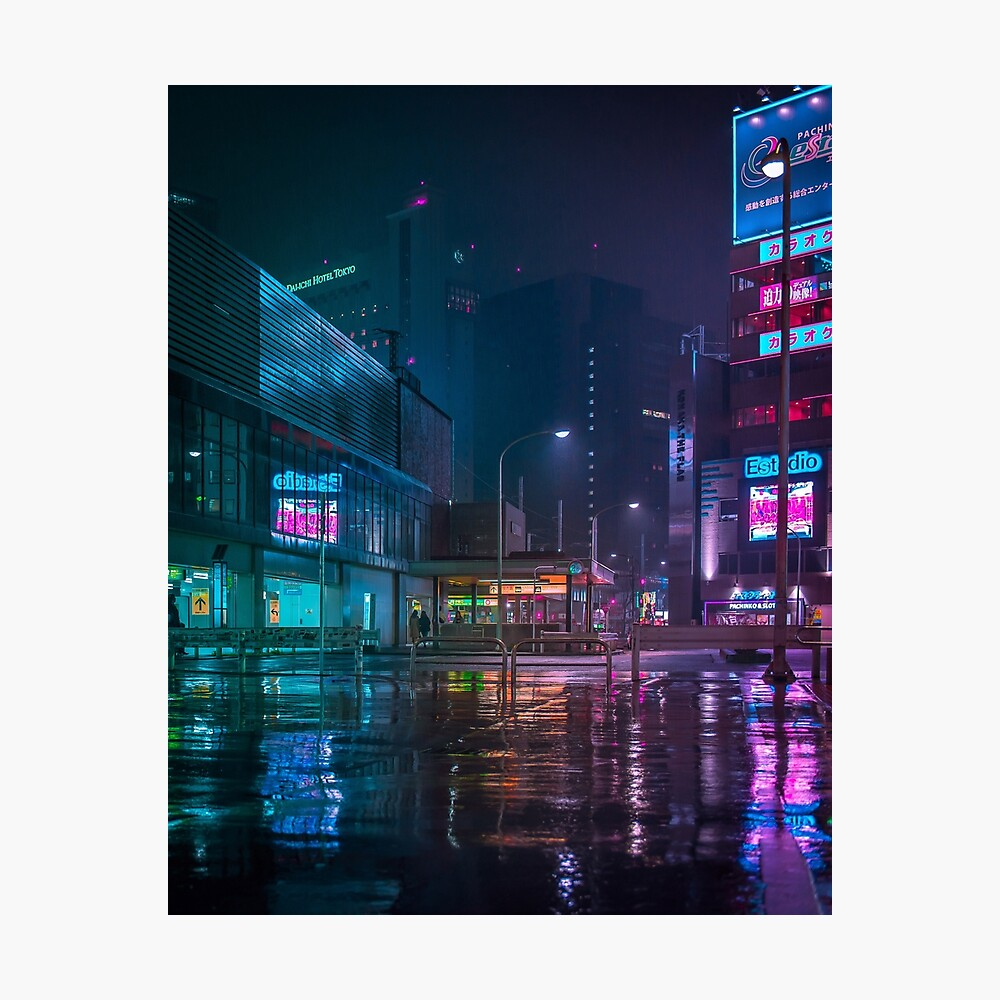 Only the rain Photographic Print