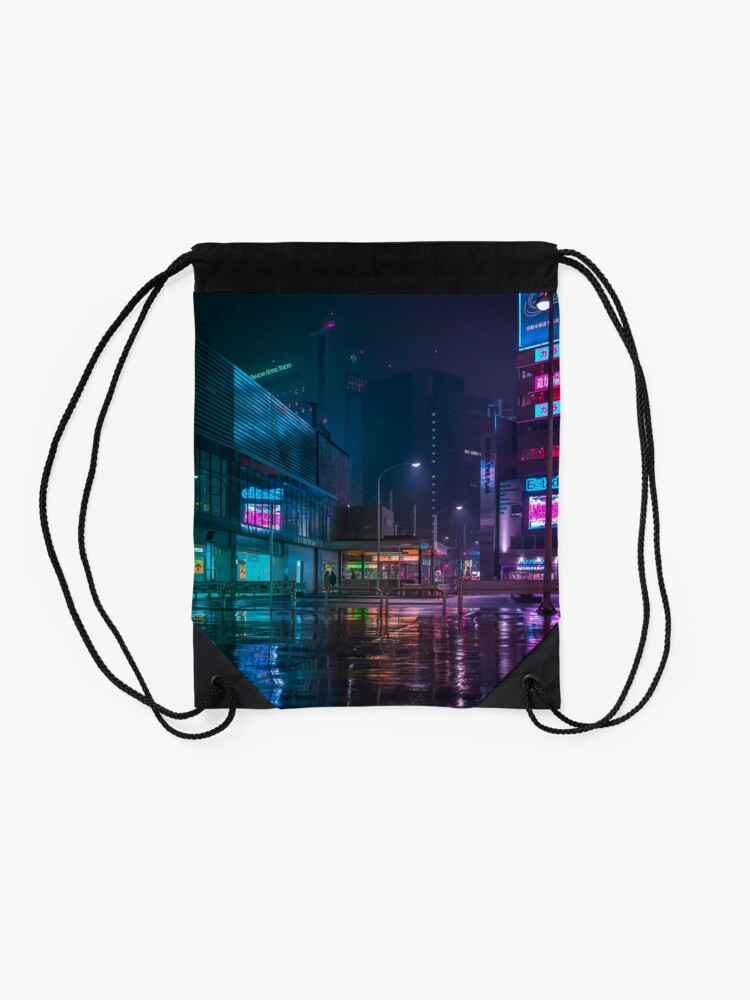 Alternate view of Only the rain Drawstring Bag