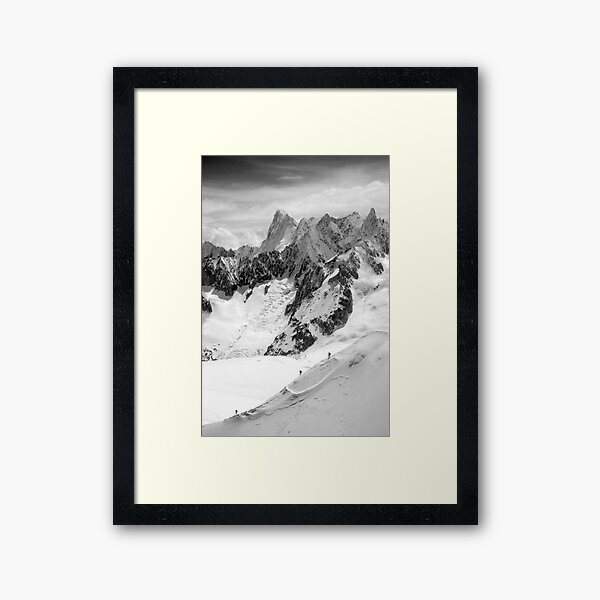 Chamonix Aiguille du Midi Mont Blanc Massif France Framed Art Print