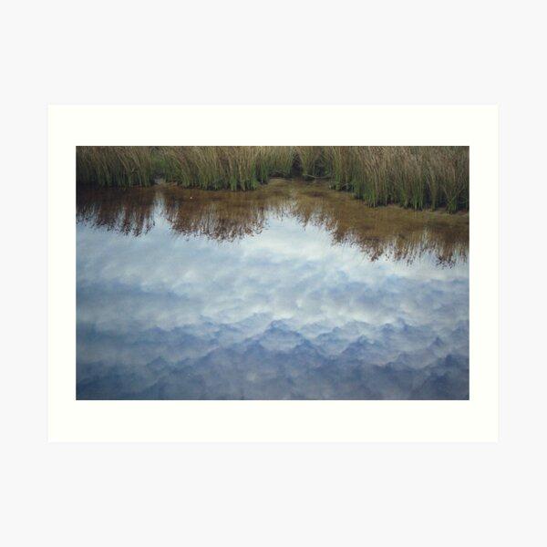 cloudy creek Art Print