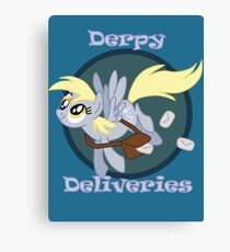 Derpy Deliveries Canvas Print