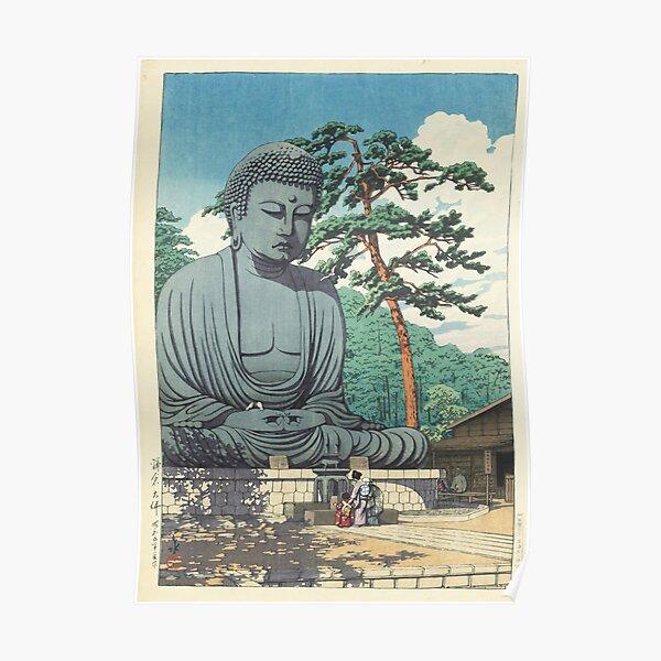 Great Buddha at Kamakura 1930 - Kawase Hasui Artwork  Poster