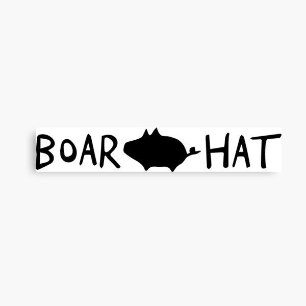 Boar Hat Seven deadly sins  Canvas Print