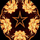 Flaming Star Kaleidoscope by judygal