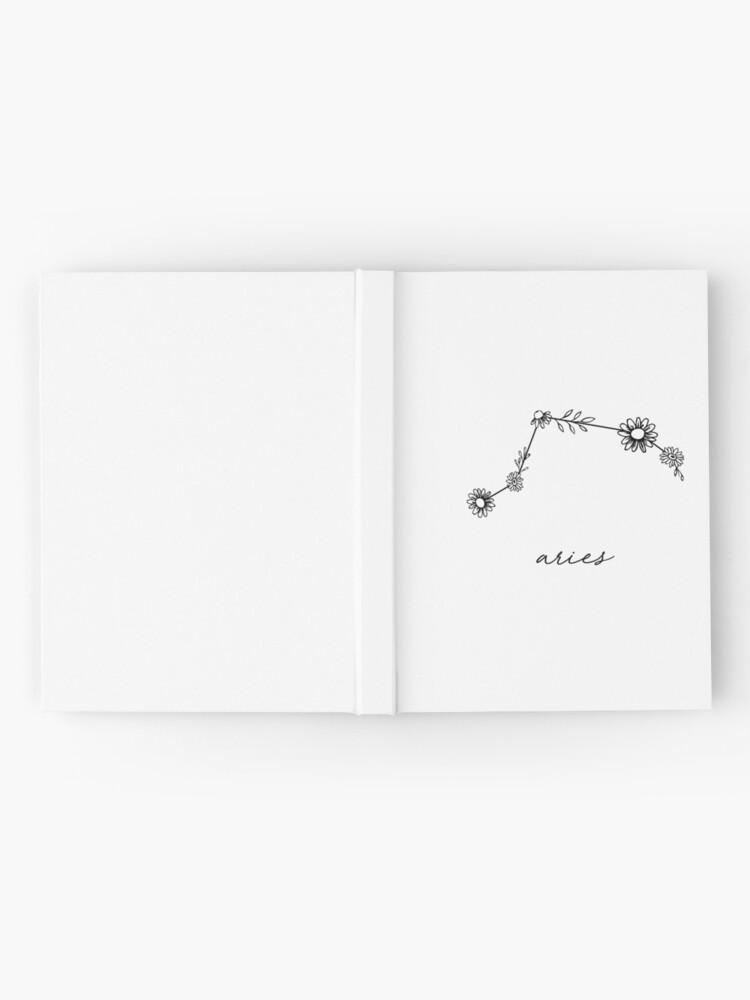 Alternate view of Aries Zodiac Wildflower Constellation Hardcover Journal