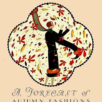 VOGUE: Jahrgang 1924 Werbematerial für Herbstzeitschrift von posterbobs