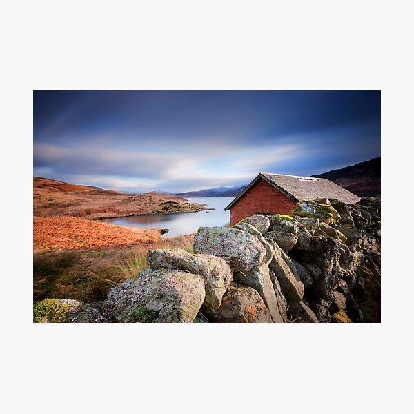 Loch Arklet Boathouse (long exposure) Photographic Print