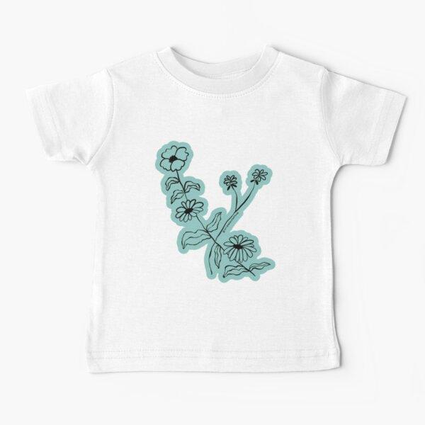 Floral Illustration - August Leo Virgo Flower Blossoms Baby T-Shirt