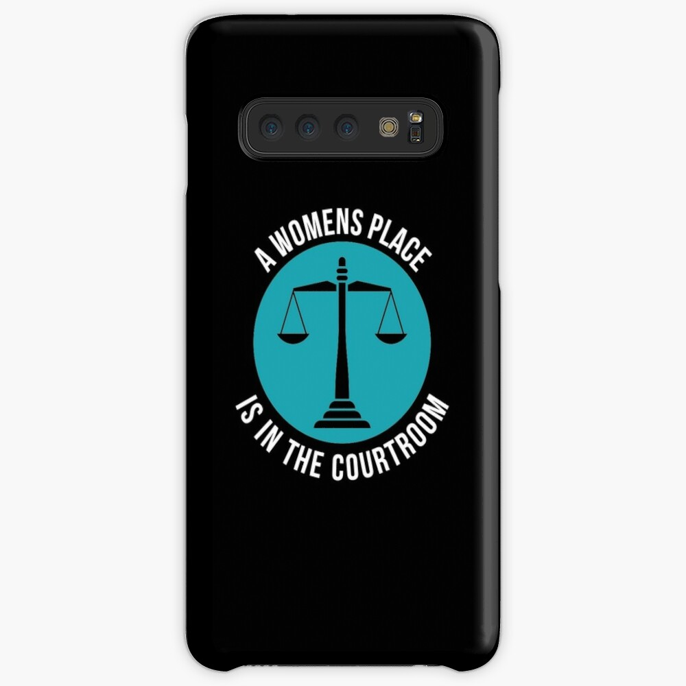 A Womans Place Is In The Courtroom Shirt Female Lawyer Gift Hülle & Klebefolie für Samsung Galaxy