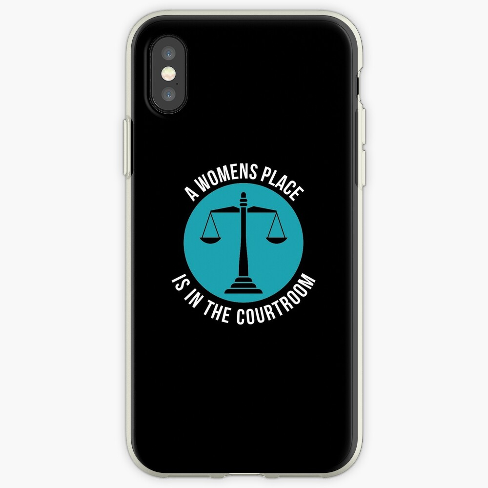 A Womans Place Is In The Courtroom Shirt Female Lawyer Gift iPhone-Hülle & Cover